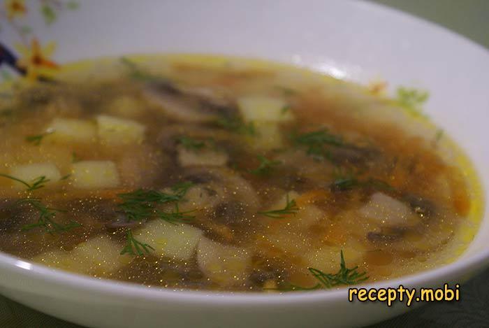 Домашний грибной суп из свежих шампиньонов