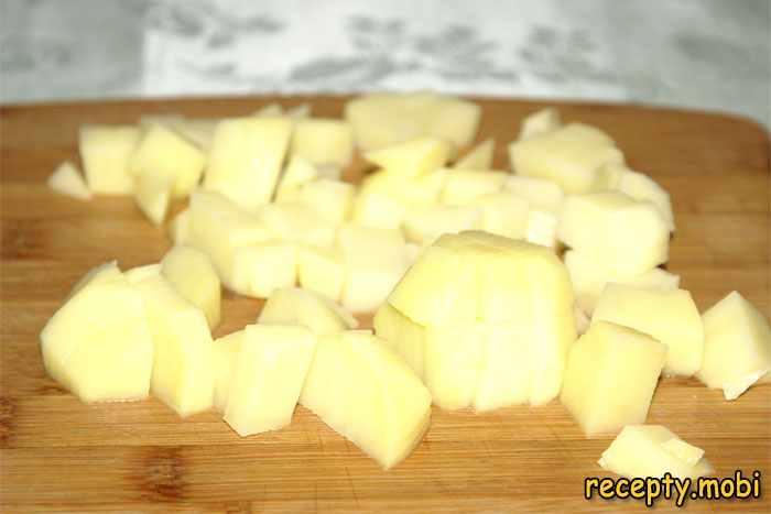 нарезанный кубиком картофель - фото шаг 5