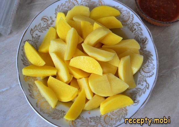 картофель дольками - фото шаг 3
